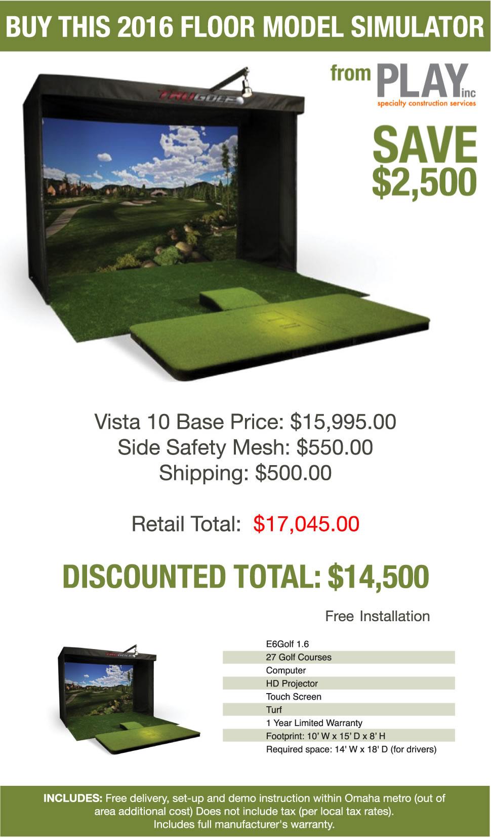 Floor Model Golf Simulator for Sale